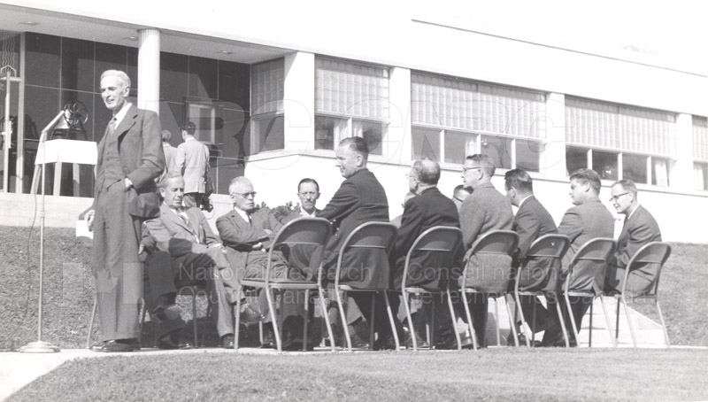 F.M. Lea at DBR Opening of Fire Research Oct. 1958 003