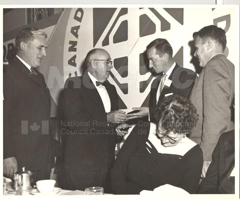 Canadian Roads Association- Award to NRC Scientist I.C. MacFarlane- President's Medal 1958-59