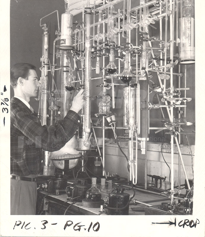Fractional Distillation Assembly- Fats and Oils Laboratory c.1955