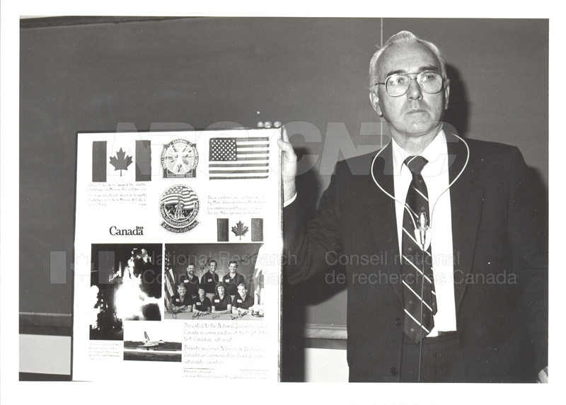 Dr. Kerwin with First Canadian Astronaut Photo Commemoration 1984 002