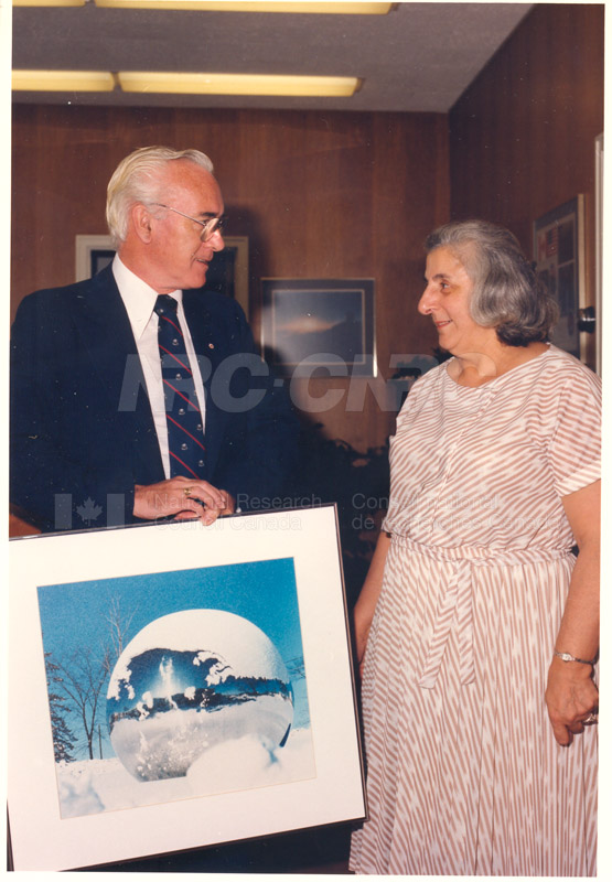 Presentation of 40 Year Service Award to Mrs. Helen Cuccaro 4 Sept. 1985 003