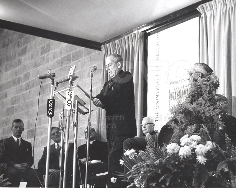 E.W.R. Steacie- Opening of Physics and Mathematics Building University of Waterloo Feb. 10 1960 002