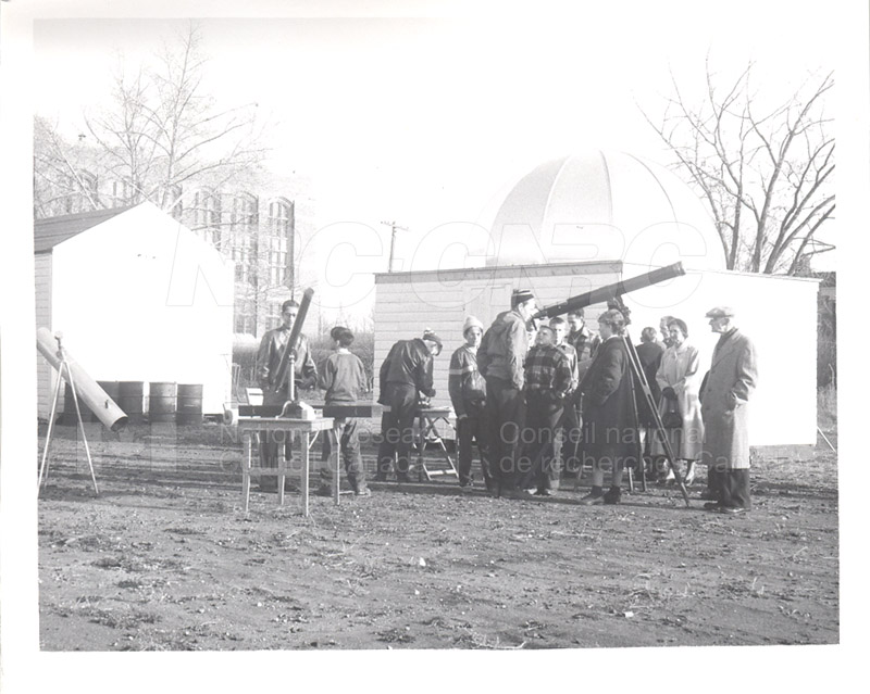 Observing the Transit of Mercury Nov. 14 1953