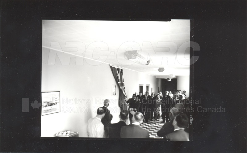 Dr. Broughton- Unveiling Photograph as a Memorial (Fuel & Lubricants Laboratory) 1964 001