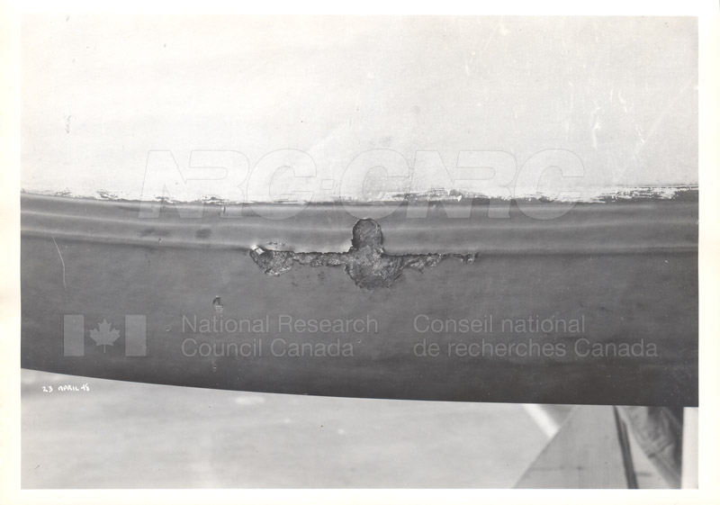 RY3- Damage to Prop Shoes, Wing Pod, and Outrigger 23 April 1948 002