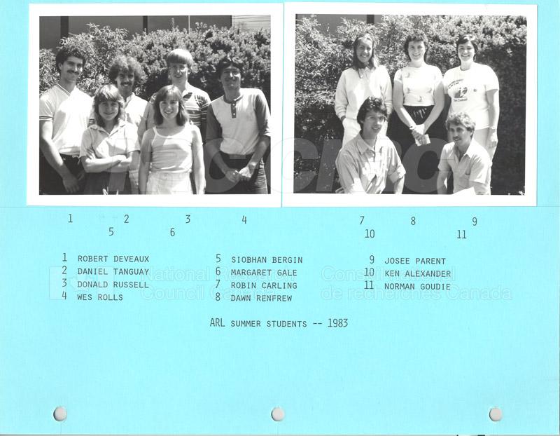 Summer Students 1983 002