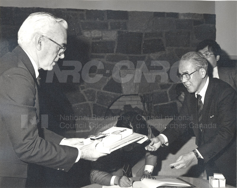 Visit of a Survey Mission from the Council of Science and Tech. Japan 1983 002