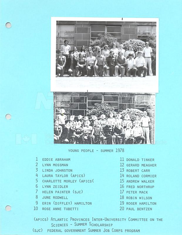 Summer Students 1978 002