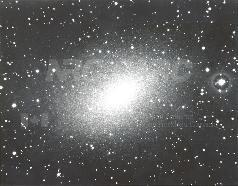 Galaxies- Nebula in Cassiopeia, Shows Resolution into Stars- Mount Wilson and Palomar Observatories