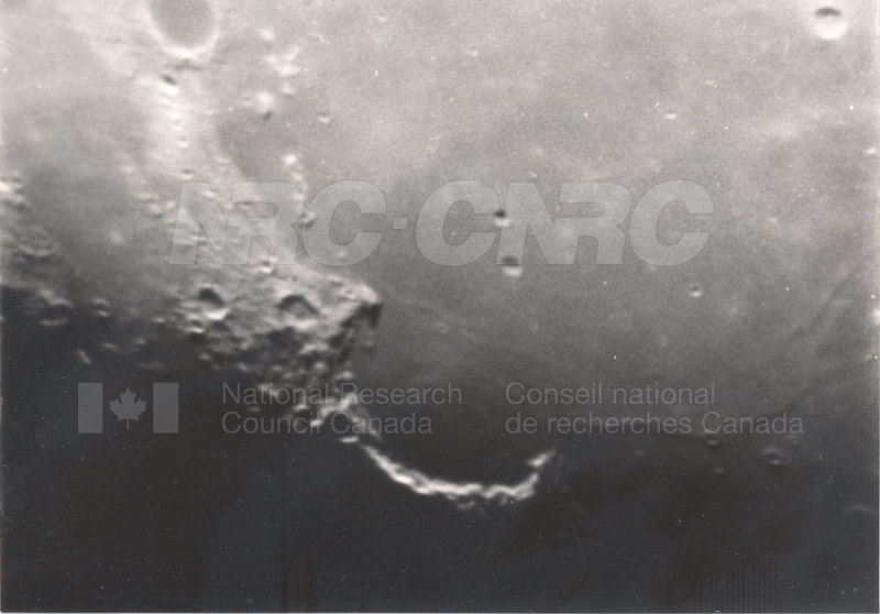 Moon- 8 Inch Refr. Half Inch Eyepiece- Sinis Iridum, Godlee, E. Burgess April 17 1956