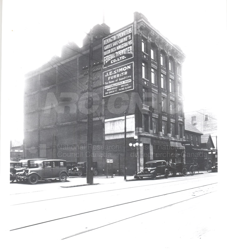 NRC Offices- Dept. of Trade and Commerce- Bryson Building 178 Queen St. Ottawa (KK-4) 1929