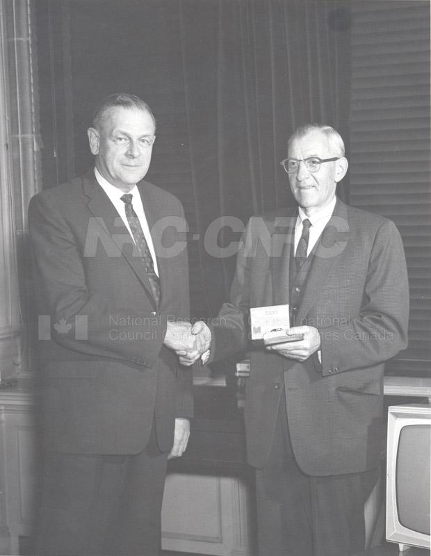 Retirement- Mr. Biggar (Head General Services) 1965 001