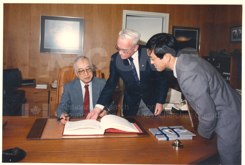Visit of H.E.K. Kikuchi, Ambassador of Japan to NRC Feb. 27 '85 001