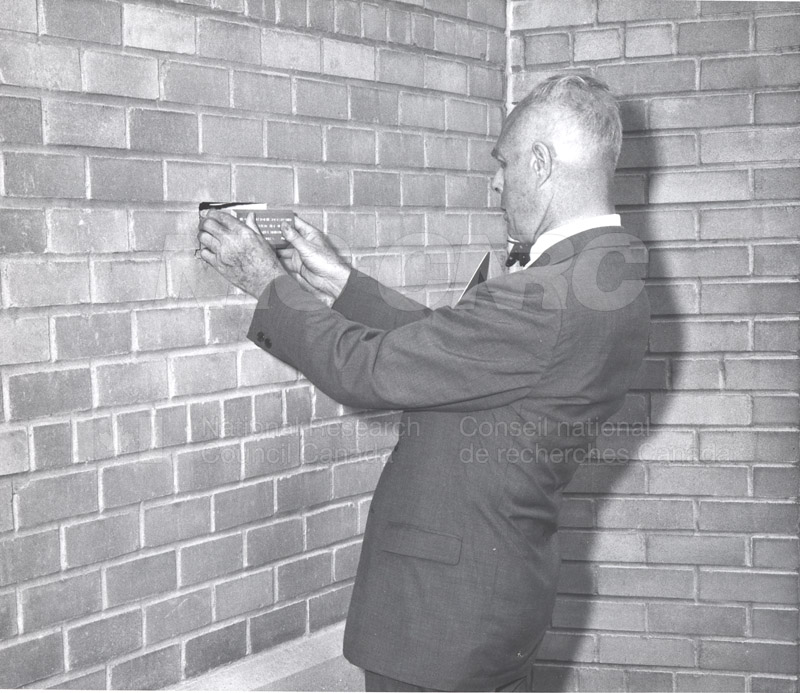 B.G. Ballard- Retirement Ceremony at M-50- Replacing Brick with a Wall Plaque June 1967 004