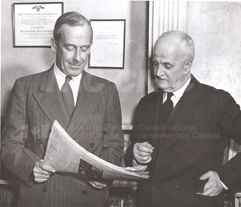 Atomic Energy Canada E.W.R. Steacie w. C.J. MacKenzie 1952 002
