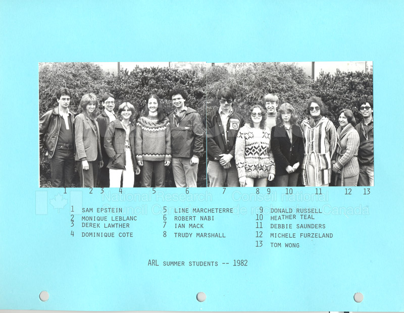 Summer Students 1982 001