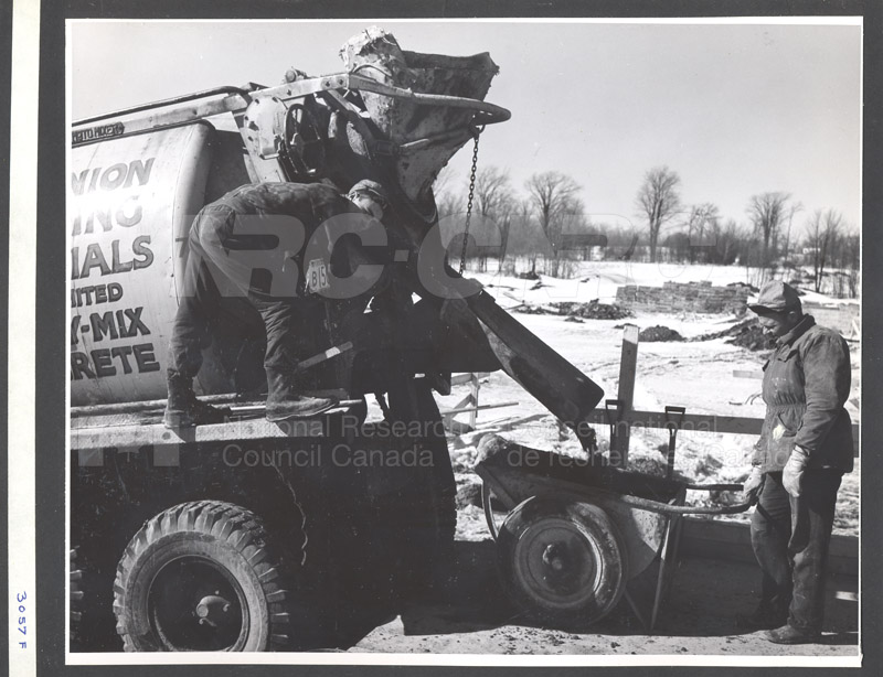 Administration Building Construction 1950s 038