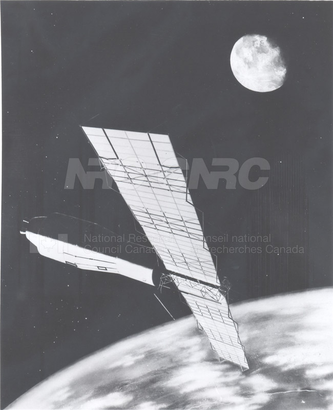 Artist's Conception of the Pegasus Satellite in Orbit