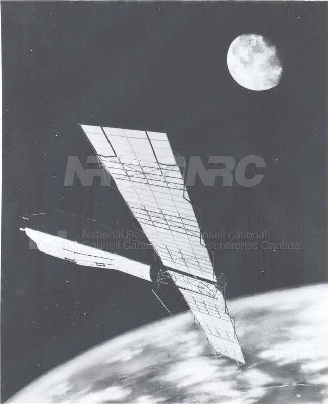 Artist's Conception of the Pegasus Satellite in Orbit