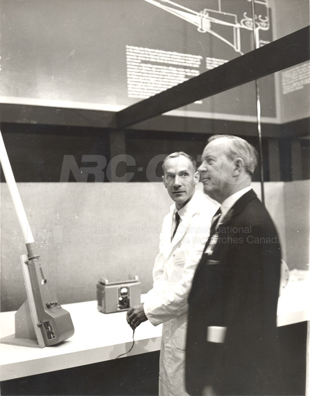 Lester Pearson at NRC Exhibit at CNE 1965