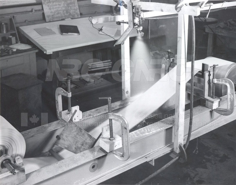 Hydrodynamics Section- Hydraulics Lab- Studies on Spillways for Hydroelectric Dams- Early 1950s 020