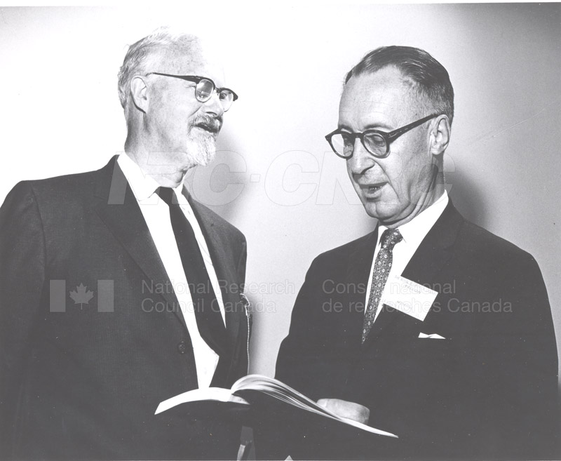 Dr. W.H. Cook Becoming President of Royal Society of Canada 1962