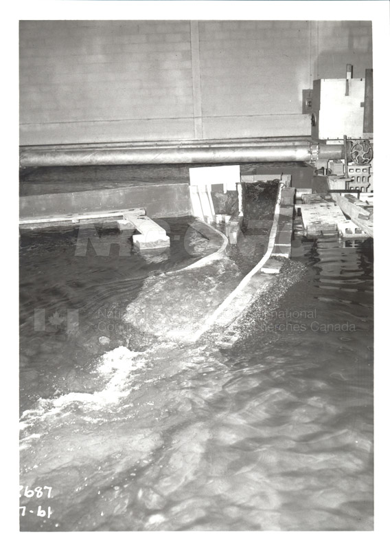 Hydrodynamics Section- Hydraulics Lab- Studies on Spillways for Hydroelectric Dams- Early 1950s 006