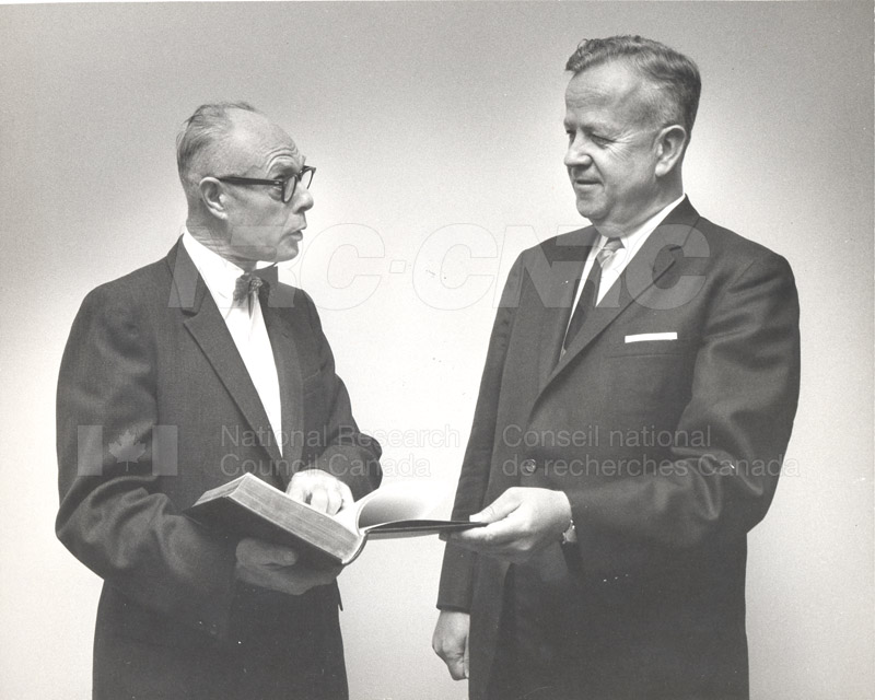 B.G. Ballard & 'Bob' Martin (Fisheries Research Board), NRC 50th Anniversary