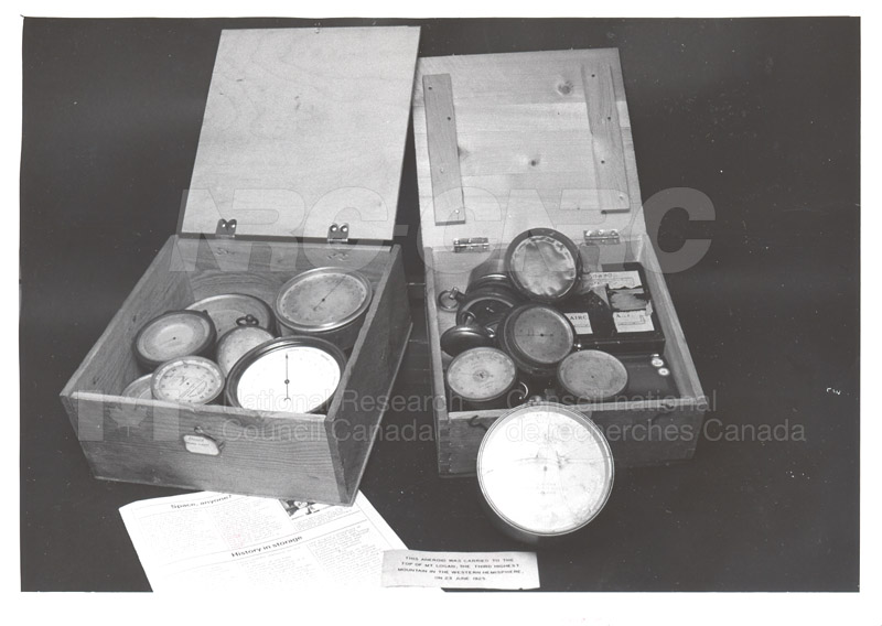 Artifacts sent to Museum of Science and Technology 1984