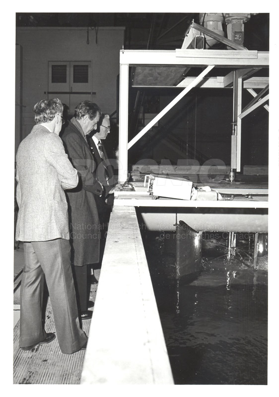 Corporate Services- Visit of French Ambassador Touring Hydraulics Lab 1981 005