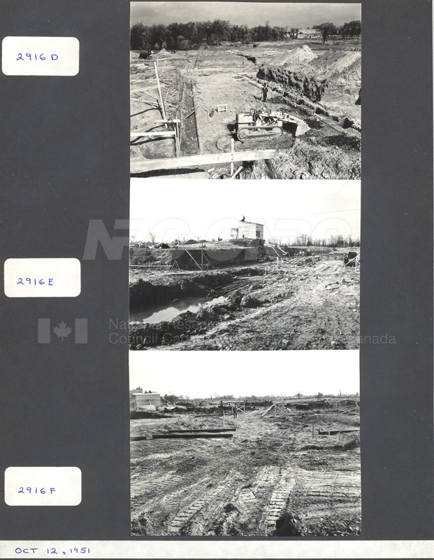 Construction of M-50 Oct. 12 1951 #2916 003