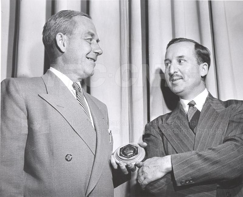 E.W.R. Steacie Receives Medal June 4, 1953 002