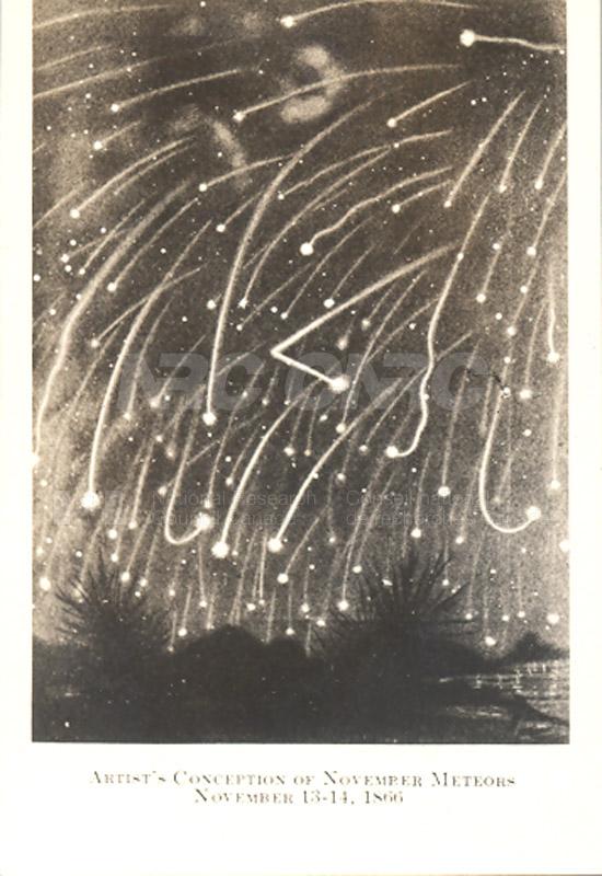 Artist's Conception of November Meteors Nov. 13-14 1866