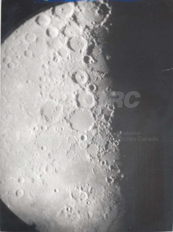 Moon- 8 Inch Refr. Half Inch Eyepiece April 18 1956