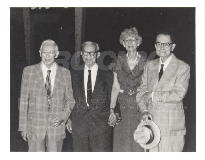 55 year friendship - C.Y. Hopkins, P. Larose, A. Tweedie & C.H. Bayley - 1985 002