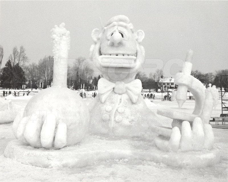 Winterlude Snow Sculpture 'Let's get Chemical' 1984 001