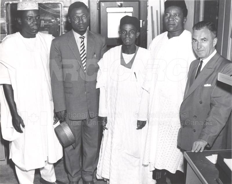Visits of Nigeria (students of Engineering) 1958